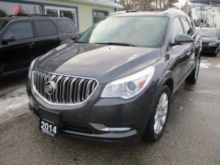 Used 2014 Buick Enclave FAMILY MOVING A.W.D. 7 PASSENGER 3.6L - V6.. CAPTAINS.. 3RD ROW.. LEATHER.. NAVIGATION.. BACK-UP CAMERA.. DUAL SUNROOF.. for sale in Bradford, ON