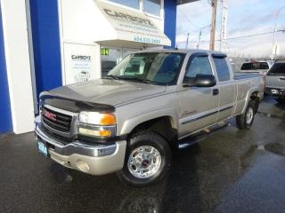 Used 2004 GMC Sierra 2500 SLT 4x4, Ext Cab 6.5 Box, Duramax Diesel, Leather for sale in Langley, BC