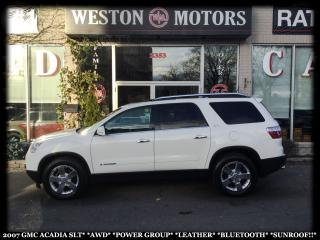 Used 2007 GMC Acadia SLT*AWD*PWR GRP*LEATHER *BTOOTH*SUNROOF!!* for sale in Toronto, ON