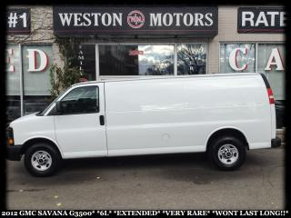 Used 2012 GMC Savana G3500*6L*EXTENDED*VERY RARE*WONT LAST LONG!!* for sale in Toronto, ON