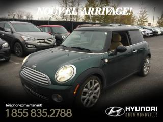 Used 2009 MINI Cooper HARDTOP + CUIR + TOIT PANO + SIÈGES CHAU for sale in Drummondville, QC