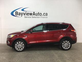 Used 2017 Ford Escape Titanium - SUNROOF! ECOBOOST! BSA! CTA! SYNC! NAV! REVERSE CAM! HTD LTHR! for sale in Belleville, ON