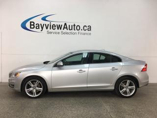 Used 2016 Volvo S60 T5 Special Edition Premier - HTD LTHR! SUNROOF! PUSH START! REVERSE CAM! BSA! WIFI! for sale in Belleville, ON