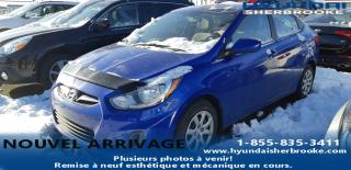Used 2013 Hyundai Accent BAS KILO!! GL+A/C+BANCS CHAUFFANTS+CRUIS for sale in Sherbrooke, QC