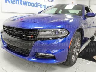 Used 2018 Dodge Charger GT AWD, NAV, sunroof, heated power seats, electric blue for sale in Edmonton, AB