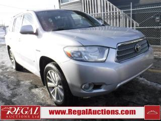 Used 2008 Toyota Highlander Limited Hybrid 4D Utility 4WD for sale in Calgary, AB