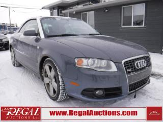 Used 2007 Audi A4  2D CABRIO QTRO 3.2L AWD for sale in Calgary, AB