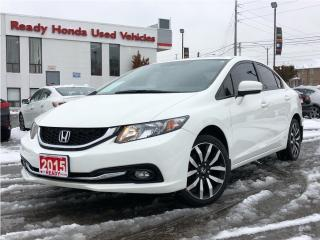 Used 2015 Honda Civic Sedan Touring - Navigation - Leather - Sunroof for sale in Mississauga, ON