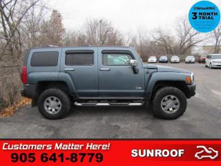 Used 2006 Hummer H3 Base  4X4 LEATHER ROOF HEATED SEATS CHROME PACKAGE for sale in St. Catharines, ON