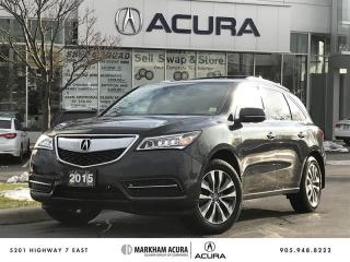 Used 2015 Acura MDX Tech at Navi, Backup Cam, DVD, Pwr Trunk for sale in Markham, ON
