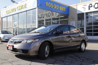 Used 2010 Honda Civic DX-G Sedan 5-Spd MT for sale in Hamilton, ON