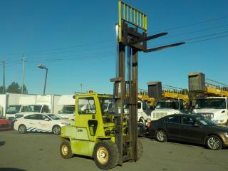 Used 2000 CLARK C500-Y100 Enclosed 2 Stage Propane Powered Forklift for sale in Burnaby, BC