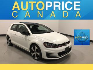 Used 2017 Volkswagen Golf GTI 3-Door Autobahn NAVIGATION|PANOROOF|LEATHER for sale in Mississauga, ON