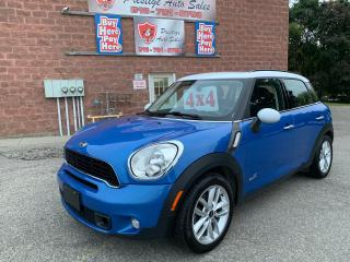 Used 2012 MINI Cooper Countryman S/ALL4/CERTIFIED/WARRANTY INCLUDED for sale in Cambridge, ON