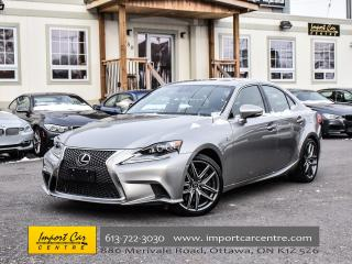 Used 2016 Lexus IS 350 Fsport 2 AWD BLIS NAV SELECT SPORT+ WOW!! for sale in Ottawa, ON