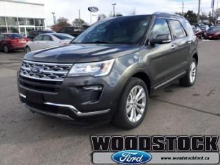 New 2019 Ford Explorer Limited  301A, LTD, MOONROOF for sale in Woodstock, ON