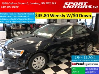 Used 2015 Volkswagen Jetta Trendline+Bluetooth+Cruise+Camera+New Brakes+A/C for sale in London, ON