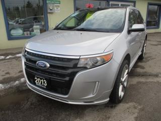 Used 2013 Ford Edge LOADED SPORT EDITION 5 PASSENGER 3.7L - V6.. AWD.. LEATHER.. HEATED SEATS.. NAVIGATION.. DUAL SUNROOF.. BACK-UP CAMERA.. SONY AUDIO.. for sale in Bradford, ON