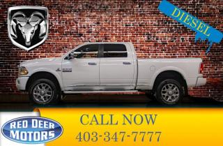 Used 2018 RAM 3500 4x4 Crew Cab Limited Diesel Leather Roof Nav for sale in Red Deer, AB