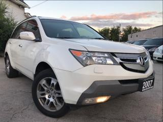 Used 2007 Acura MDX SH-AWD|Navi|Leather|Sunroof|24 Month warranty for sale in Burlington, ON