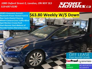 Used 2015 Hyundai Sonata SPORT+Power Heated Leather Seats+Camera+PANO Roof for sale in London, ON