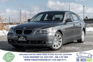Used 2006 BMW 5 Series 525 Low Km's Clean New Tires Certified Bluetooth for sale in Bolton, ON