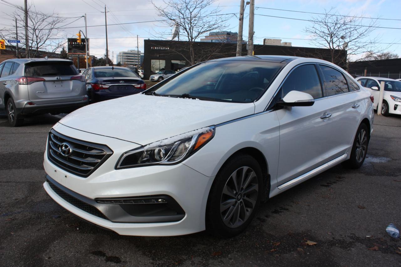 Photo of White 2015 Hyundai Sonata