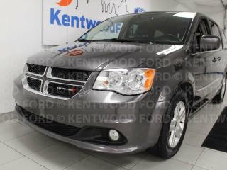 Used 2017 Dodge Grand Caravan Crew Plus FWD, heated power leather seats, power sliding doors, rear climate control, power liftgate for sale in Edmonton, AB