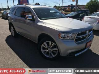 Used 2012 Dodge Durango Crew Plus | AWD | LEATHER | ROOF | DVD | NAV for sale in London, ON