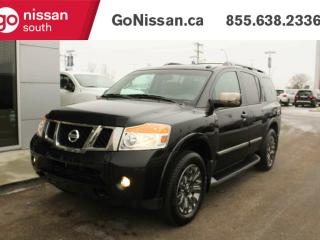 Used 2015 Nissan Armada PLATINUM, AWD, LEATHER, DUAL HEADREST DVD, HEATED SEATS, SUNROOF, BACKUP CAMERA for sale in Edmonton, AB