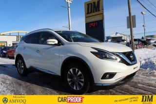Used 2018 Nissan Murano SL AWD CUIR TOIT for sale in Salaberry-de-Valleyfield, QC
