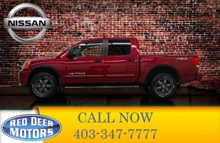 Used 2014 Nissan Titan 4x4 Crew Cab Pro 4X Leather Roof Nav for sale in Red Deer, AB