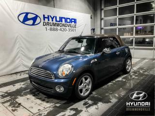 Used 2009 MINI Cooper CONVERTIBLE GARANTIE INCLUSE + 78 871 KM + CUIR + WO for sale in Drummondville, QC