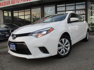Used 2015 Toyota Corolla LE-BACK UP CAMERA-BLUETOOTH-HEATED SEAT for sale in Scarborough, ON