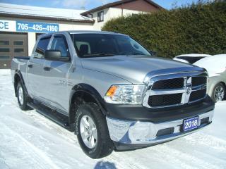 Used 2018 RAM 1500 ST,Crew , 4X4, V8 HEMI for sale in Beaverton, ON