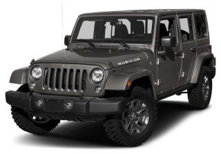 Used 2018 Jeep Wrangler JK Unlimited Rubicon LEATHER, COLD WEATHER GROUP, NAVIGATION, REMOTE STARTER for sale in Ottawa, ON