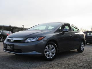 Used 2012 Honda Civic LX / BLUETOOTH / AUTO / ONE OWNER / ACCIDENT FREE for sale in Newmarket, ON