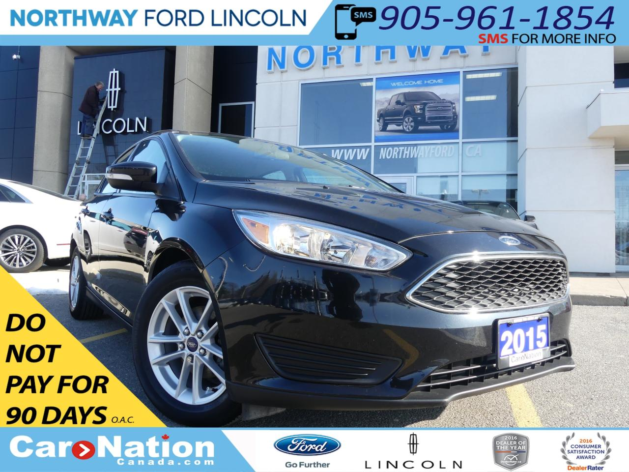 Used 2015 Ford Focus Se Rear Cam Low Km Bluetooth For Sale