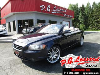 Used 2008 Volvo C70 Convertible toit dur 5 cyl turbo 227 h/p manuelle 6 vitesses for sale in St-Prosper, QC