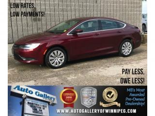 Used 2016 Chrysler 200 LX *9 Speed Auto, Auxiliary Capability for sale in Winnipeg, MB