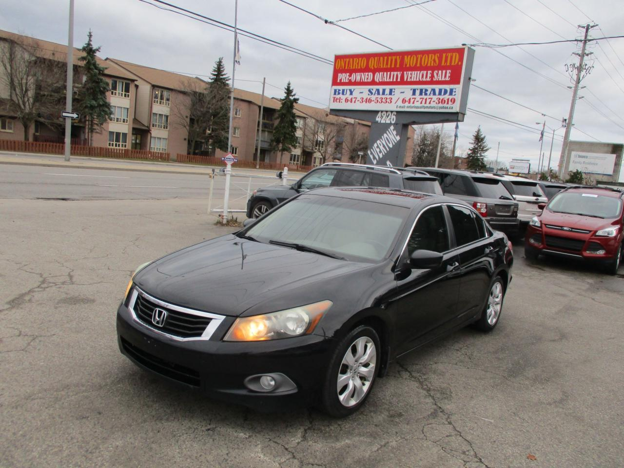 Ontario Quality Motors >> Used 2009 Honda Accord Ex L Sunroof Leather Clean Clean