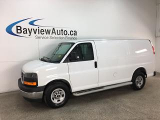 Used 2017 GMC Savana 2500 Work Van - A/C! CRUISE! PWR GROUP! RUNNING BOARDS! for sale in Belleville, ON
