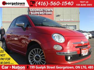 Used 2012 Fiat 500 Lounge | LEATHER | SUNROOF | 5 SPEED | for sale in Georgetown, ON