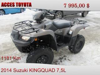 Used 2014 Suzuki King Quad for sale in Rouyn-Noranda, QC