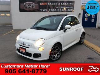 Used 2012 Fiat 500 Sport  AUTO AIR ROOF ALLOYS POWER GROUP for sale in St. Catharines, ON