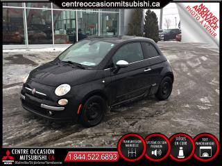 Used 2012 Fiat 500 LOUNGE CUIR TOIT PANO SIEGE CHAUFF for sale in St-Jérôme, QC