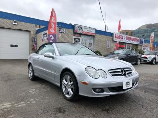Used 2007 Mercedes-Benz CLK ACCIDENT FREE_CONVERTIBLE_LEATHER SEATS for sale in Oakville, ON