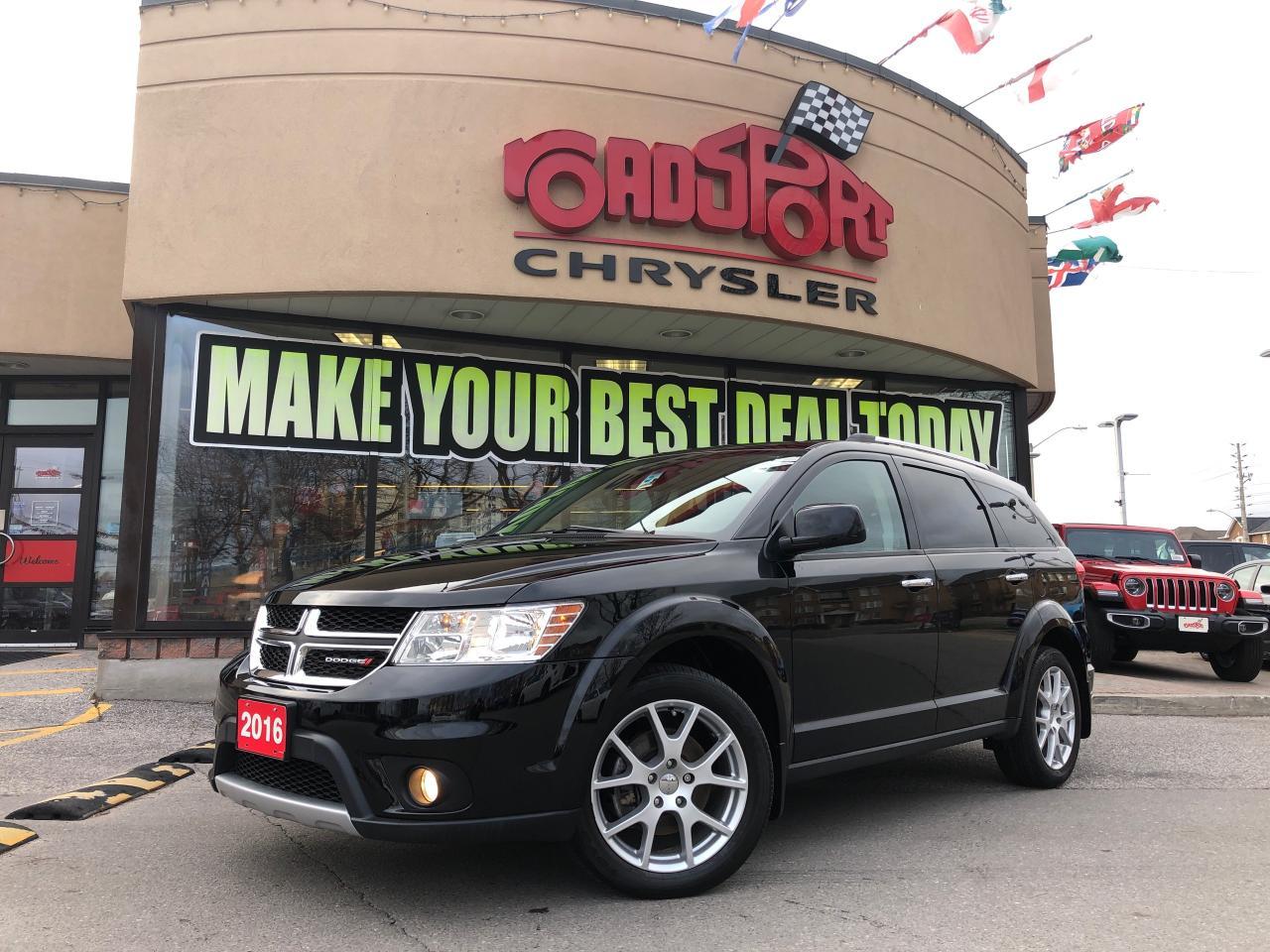 2016 Dodge Journey R/T AWD 7 PASS NAVI PWR ROOF NAV DVD LOW KMS