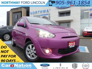 Used 2015 Mitsubishi Mirage SE | LOW KM | HEATED SEATS | BLUETOOTH | for sale in Brantford, ON