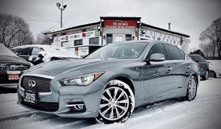 Used 2015 Infiniti Q50 PREMIUM |AWD|Certified| NAVI|SUNROOF| REARVIEW| HEATEDSEATS|AND MUCH MORE! for sale in Guelph, ON